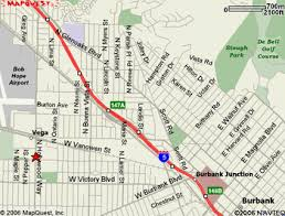 map of burbank ca elks org lodge 1497 directions to lodge