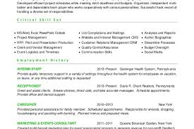 Event Manager Resume Sample by Event Planner Resume Skills Marketing Communications Events