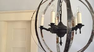 Orb Chandelier Diy Diy How To Make A Caged Orb Chandelier Youtube