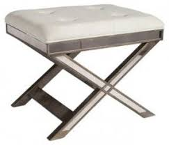 X Bench Ottoman Leather Vanity Stool Foter