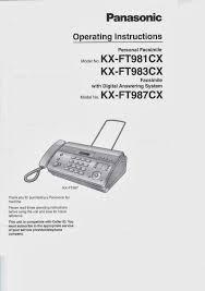 program telepon manual panasonic kx ft981 ft983 ft987