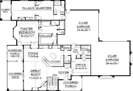 house plans with detached guest house ranch house plans with inlaw quarters home deco plans