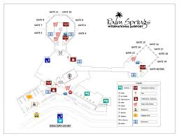 airport map and terminal directory city of palm springs