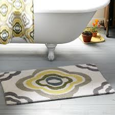 Yellow Bathroom Rugs Magnificent Yellow And Gray Bathroom Rug With And Yellow Floral