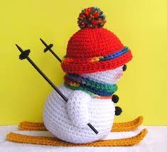 skiing snowman pdf crochet pattern 5 00 via etsy 1 xmas