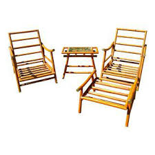Bamboo Patio Set by Vintage U0026 Used Hollywood Regency Patio And Garden Furniture Chairish
