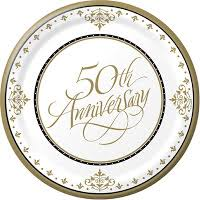 50th wedding anniversary plates party world s party planning and ideas 50th wedding