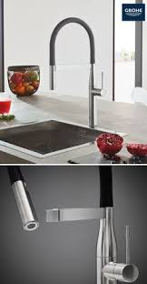 colored kitchen faucets the grohe essence semi pro kitchen faucet elevates kitchens with