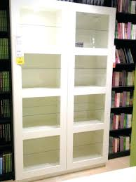 Bookcase With Glass Door Glass Door Shelves Walnut Bookcase With Glass Doors Antique