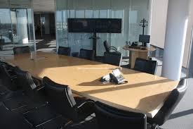 modern office boardroom high rise views