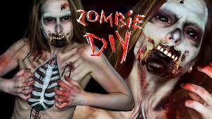zombie halloween makeup kits zombie halloween body paint tutorial elsa rhae youtube