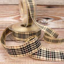 and black plaid ribbon burberry style and black plaid on ribbon