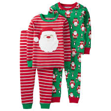 just one you carters infant toddler boys santa pajamas pjs 2