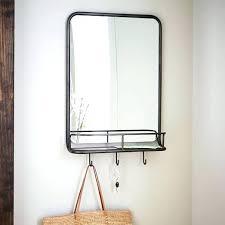 mid century mirror mid century mirror with shelf partum me
