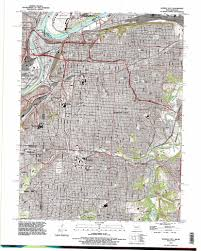 Map Of Kansas City Mo Kansas City Topographic Map Mo Ks Usgs Topo Quad 39094a5