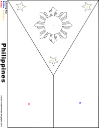 philippine flag coloring page