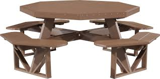 Luxcraft Fine Outdoor Furniture by Luxcraft Octagon Picnic Table Amish Yard