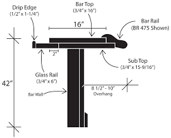 Cost To Build A Bar In Basement by Standard Bar Dimensions U0026 Specifications Diy U0026 Commerical