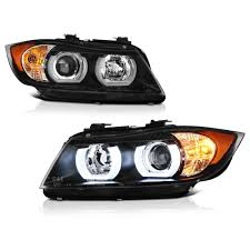 bmw headlights 3 series 06 08 bmw 3 series e90 sedan hid model led halo projector