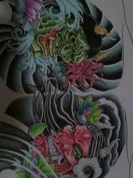 hannya masks chest design coloured by crimeskull on deviantart
