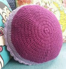 Pink Round Cushion Homemade Crochet Round Cushion Felt