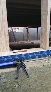 Subfloor Basement Basement Closing Up W Subfloor Install From Knee Wall Opening