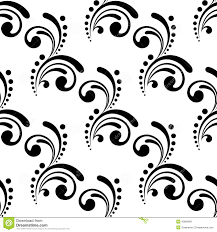 seamless pattern design with swirls and stock vector