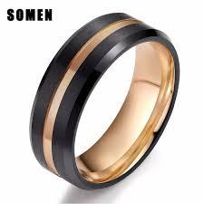 men rings somen new men rings tungsten rings 8mm wedding band gold line