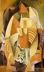 An Armchair Woman In A Chemise In An Armchair By Pablo Picasso Oil Painting