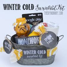 diy winter cold survival kit a get well soon gift basket idea
