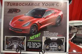 c7 corvette turbo chevyboost sema 2014 sts turbo debuts their c7 corvette