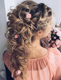 wedding hairstyles for hair 20 soft and sweet wedding hairstyles for curly hair 2017