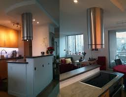 Round Kitchen Island Designs Ceiling Wonderful Stainless Steel Island Range Hoods Design With