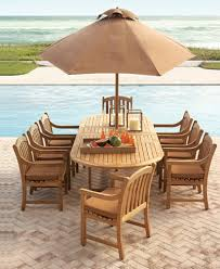 Round Teak Table And Chairs Bristol Teak Outdoor Dining Collection Created For Macy U0027s