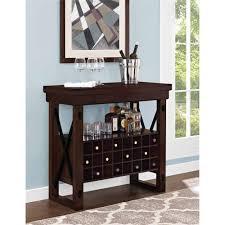 better homes and gardens preston park bar cabinet mahogany