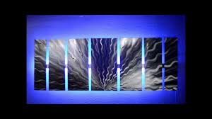lighted pictures wall decor silver vibration led lighted metal wall art by brian m jones youtube