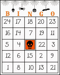 halloween bingo sheet u2013 festival collections