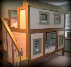 Bunk Bed House White Treehouse Bunk Bed Diy Projects With Regard To Bunk Bed
