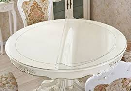 48 round table protector pads amazon com clear round table protector round furniture protector