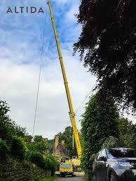 terex 100 tonne crane lifting 1 902kg tub 34 meters radius