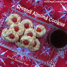 creamy almond cookies