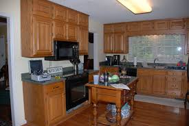 Oak Kitchen Design by Painting Oak Kitchen Cabinets Before And After Kitchens Design