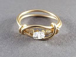gold wire rings images Raw quartz size 9 wire wrapped ring gold handmade jpg
