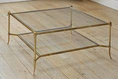 Brass Glass Coffee Table Worlds Away Quadro Square Coffee Table With Beveled Glass
