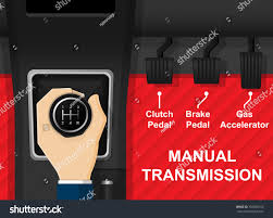 car vehicle manual transmission driving change stock vector