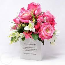 graveside flowers personalised customised memorial graveside flower bowl vase pot