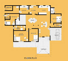 One Story Modern House Plans by 100 House Plans One Story 100 Single Story Floor Plan 34