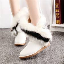 womens fur boots size 9 get cheap flat boots leather size 9 aliexpress com