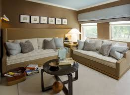 Home Theater Design Nyc Chic Kids Trundle Beds Look New York Contemporary Home Theater