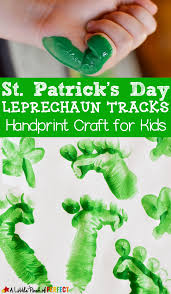 st patrick u0027s day leprechaun tracks handprint craft for kids